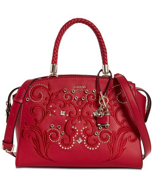 e73de04a2e GUESS Alessia Large Satchel   Reviews - Handbags   Accessories ...