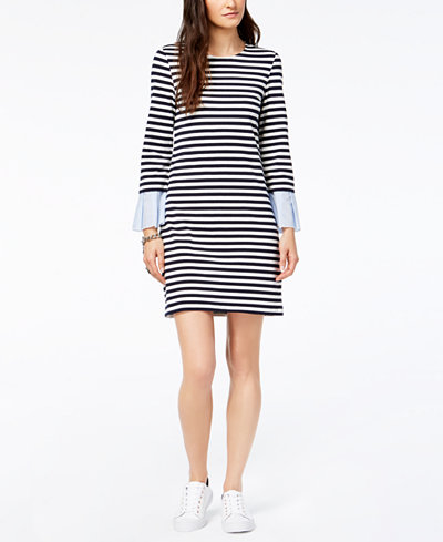 Tommy Hilfiger Contrast-Sleeve Shift Dress
