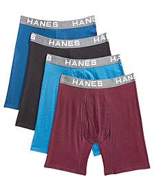 Hanes Men's 4-Pk. Platinum Comfort Flex Fit® Boxer Briefs