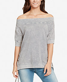 WILLIAM RAST Everett Off-The-Shoulder Sweatshirt
