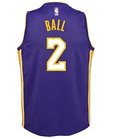 Lonzo Ball Los Angeles Lakers Statement Swingman Jersey, Big Boys (8-20)
