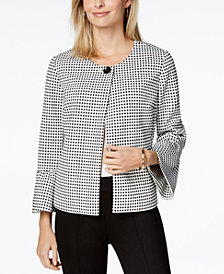 Charter Club Petite Gingham Jacket, Created for Macy's