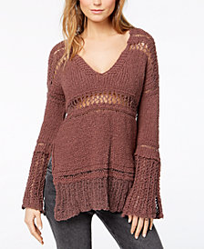 Free People Belong To You Open-Knit Sweater