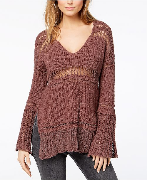 To Knit Belong Open People Dark Purple Free You Sweater ExTXZgnqw