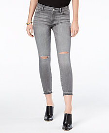 M1858 Kristen Ripped Mid-Rise Cropped Skinny Jeans with Cut-Off Hem, Created for Macy's