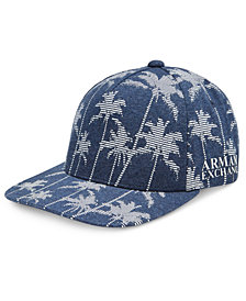 Armani Exchange Men's Palm-Print Hat