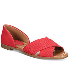 Style & Co Tyyler d'Orsay Peep-Toe Flats, Created for Macy's