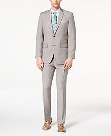 Men's Slim-Fit Stretch Tan Solid Suit