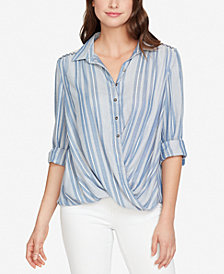 Vintage America Striped Lace-Contrast Shirt