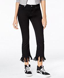 Blue Desire Juniors' Fringe Skinny Jeans