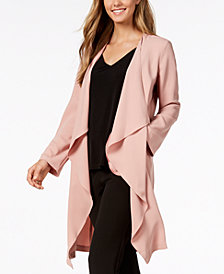 Nine West Draped Open-Front Topper Jacket, Created for Macy's