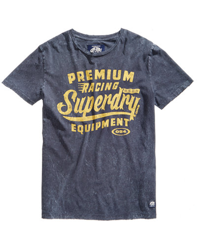 Superdry Men's Premium Racing Equipment Logo-Print T-Shirt