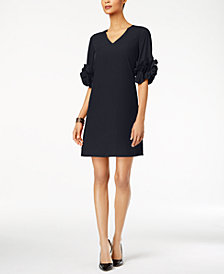 Alfani Ruffle-Sleeve A-Line Dress, Created for Macy's