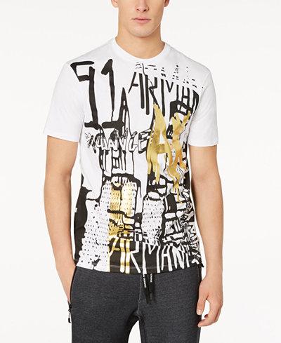 Armani Exchange Men's Graffiti Graphic Print T-Shirt