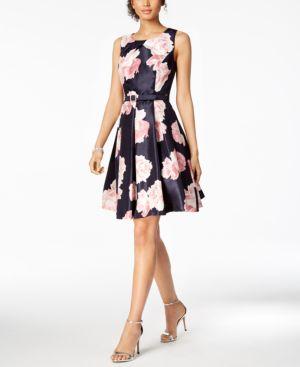 Jessica Howard Belted Floral-Print Fit & Flare Dress 5730177