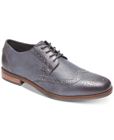 Men's Lace Ups Oxfords/Rockport Style Tip Wing Tip Oxford Tan