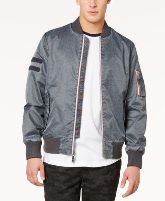 Men's Washed Nylon Bomber Jacket, Created for Macy's