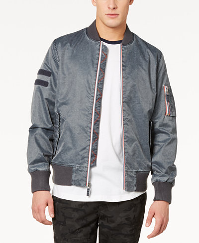 American Rag Men's Washed Nylon Bomber Jacket, Created for Macy's