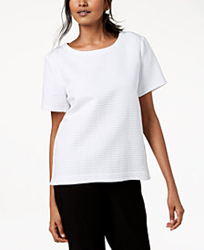 Eileen Fisher Textured Organic Cotton Top
