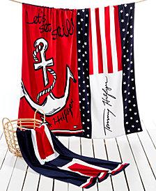 Tommy Hilfiger Cotton Printed Beach Towel Collection
