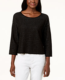 Eileen Fisher Silk Blend Printed Sweater