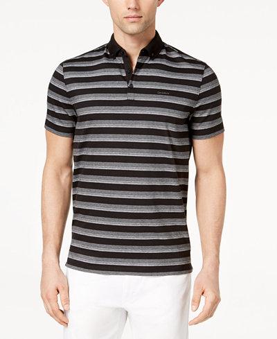 Calvin Klein Men's Liquid Touch Stripe Polo Shirt
