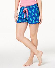 Jenni by Jennifer Moore Printed Ruffle-Trim Boxer Shorts, Created for Macy's