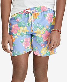"Polo Ralph Lauren Men's Big & Tall Hibiscus Traveler 6-1/2"" Swim Trunks"