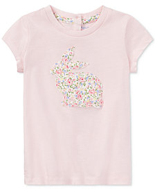 Ralph Lauren Floral-Print Cotton T-Shirt, Baby Girls
