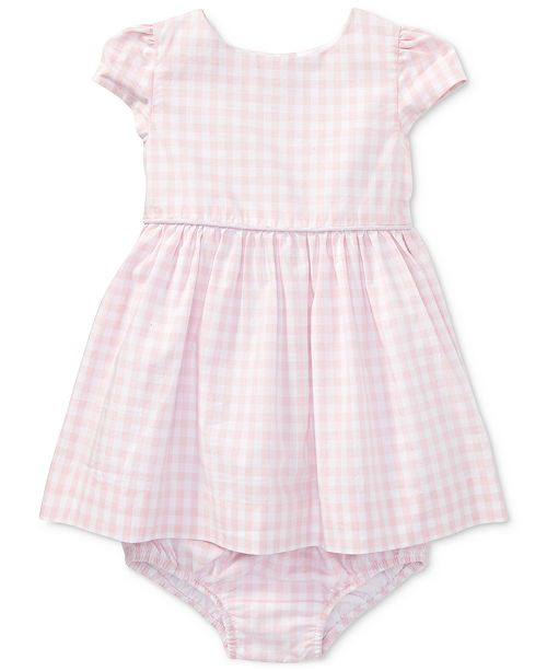 Polo Ralph Lauren Ralph Lauren Poplin Cotton Dress, Baby Girls