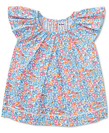 Ralph Lauren Floral-Print Cotton Top, Baby Girls