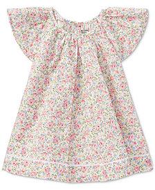 Ralph Lauren Floral-Print Cotton Top, Baby Girls