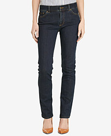 Lauren Ralph Lauren Petite Stretch Premier Straight-Leg Jeans