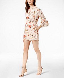 Rachel Zoe Silk Bell-Sleeve Romper
