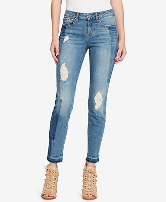 Juniors' Colorblocked Skinny Jeans by Jessica Simpson