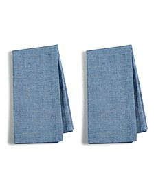 CLOSEOUT! 2-Pc. Navy Cotton Napkin Set, Created for Macy's