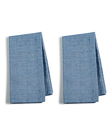 Martha Stewart Collection 2-Pc. Navy Cotton Napkin Set, Created for Macy's