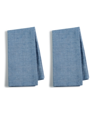 Closeout! Martha Stewart Collection 2-Pc. Navy Cotton Napkin Set, Created for Macy's