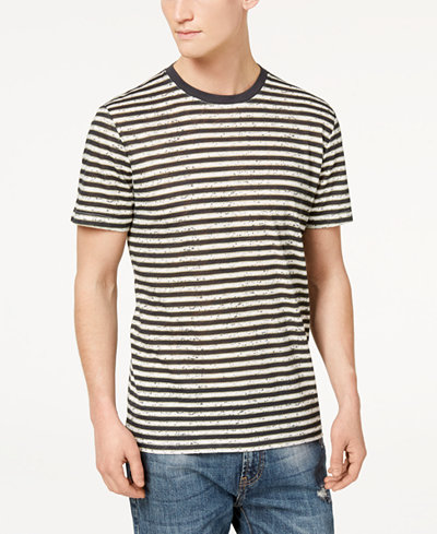 American Rag Men's Textured Striped T-Shirt, Created for Macy's