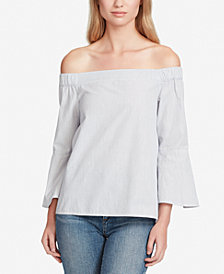 Jessica Simpson Pauline Cotton Off-The-Shoulder Top