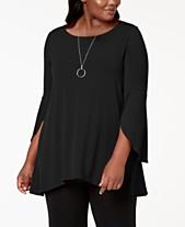 37e4806a7d8 Alfani Plus Size Dressy Tops  Shop Plus Size Dressy Tops - Macy s