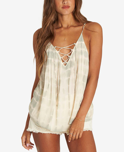 Billabong Juniors' Tie-Dyed Lace-Up Top