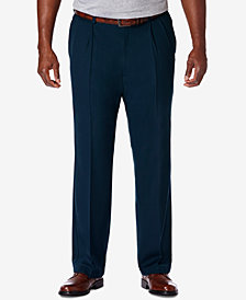 Haggar Men's Big & Tall Cool 18 PRO Classic-Fit Stretch Pleated Dress Pants