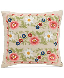 "Vera Bradley Coral Floral 16"" Square Decorative Pillow"