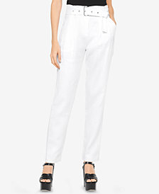 MICHAEL Michael Kors Linen High-Rise Pants