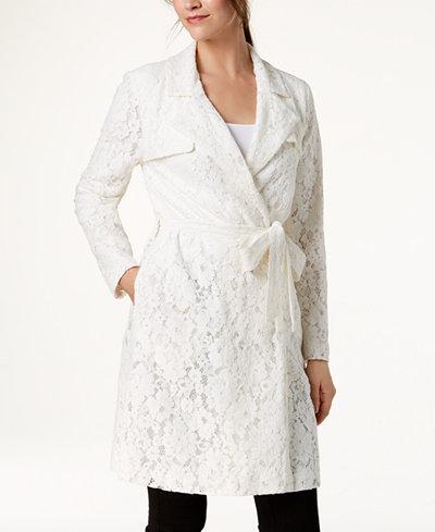 Alfani Lace Trench Coat, Created for Macy's