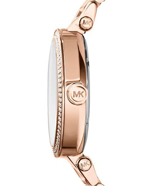 27432b0e4e01 ... Michael Kors Women s Parker Rose Gold-Tone Stainless Steel Bracelet  Watch 39mm MK5865 ...