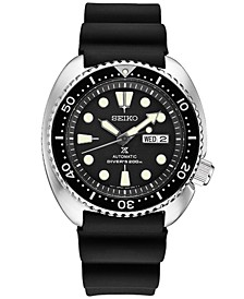 Men's Automatic Prospex Diver Black Silicone Strap Watch 45mm SRP777
