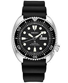 Men's Automatic Prospex Diver Black Silicone Strap Watch 45mm SRP777