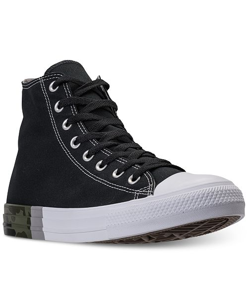 04d2e32273a8fb ... Converse Men s Chuck Taylor All Star High Top Camo Casual Sneakers from  Finish ...